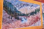 Mural in the downtown historic district, Silverton, Colorado