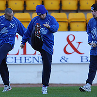 St Johnstone training...28.12.01<br />Ex gers kid Peter MacDonald (No 27) in training this morning before facing his old team tomorrow<br />see story by Gordon Bannerman Tel:01738 553978<br /><br />Picture by Graeme Hart.<br />Copyright Perthshire Picture Agency<br />Tel: 01738 623350  Mobile: 07990 594431