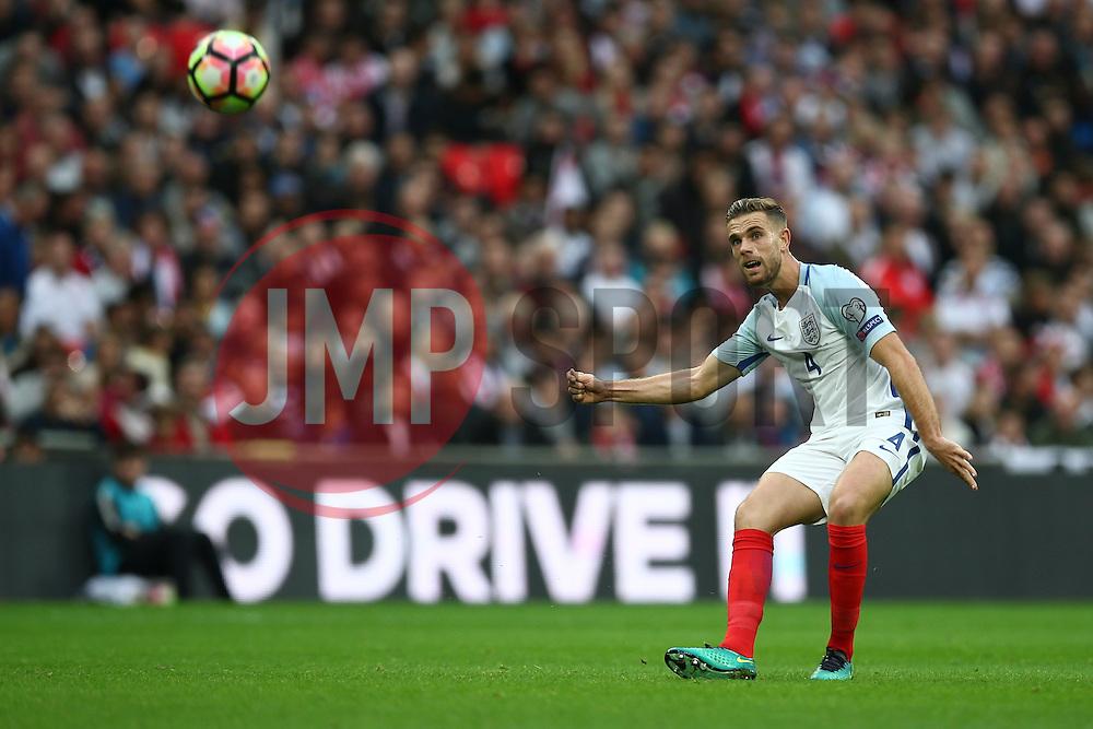 Jordan Henderson of England in action - Mandatory by-line: Jason Brown/JMP - 08/10/2016 - FOOTBALL - Wembley Stadium - London, United Kingdom - England v Malta - FIFA European World Cup Qualifiers