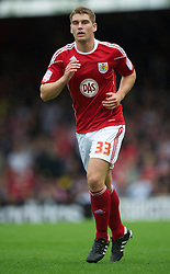 BRISTOL, ENGLAND - Saturday, August 7, 2010: Bristol City's Sam Vokes in action against Millwall during the League Championship match at Ashton Gate. (Pic by: David Rawcliffe/Propaganda)