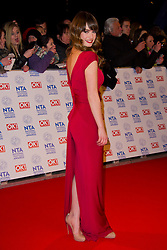 Lily James arrives at the National Television Awards at the 02 Arena, London Wednesday January 23, 2013. Photo by Chris Joseph / i-Images