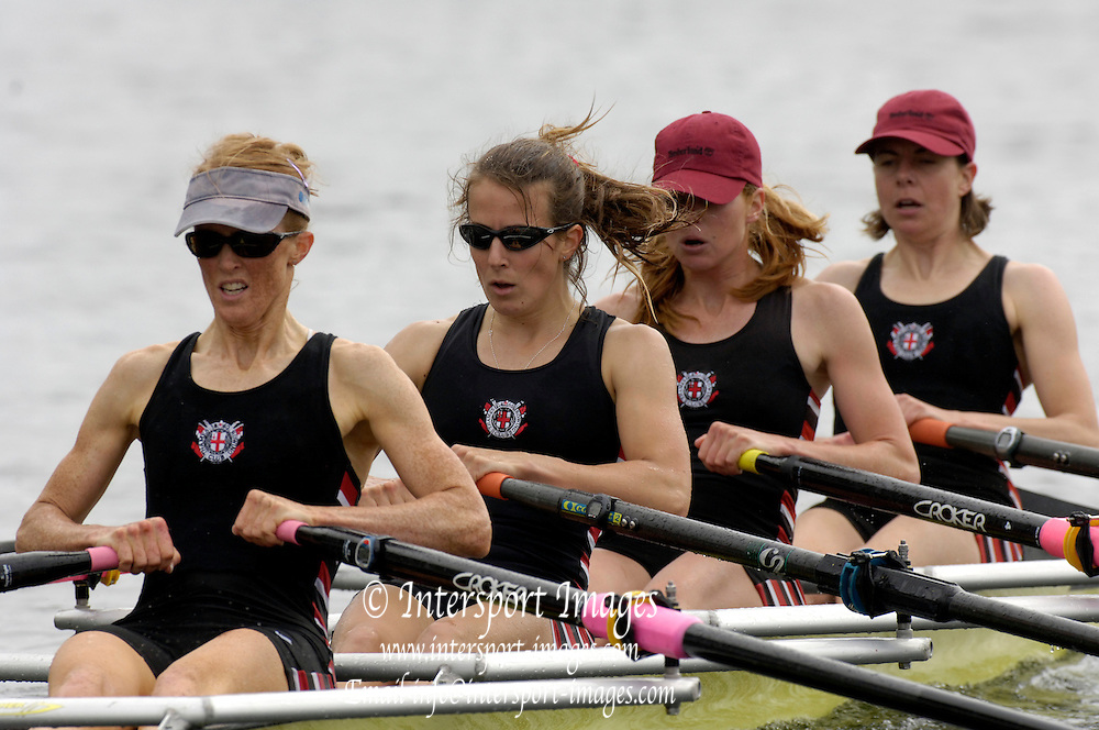 2005 Henley Royal Regatta, Henley on Thames, ENGLAND. 03.07.205  .Sunday Finals day -Thames Rowing Club, runners up. W4X, winners 'Princess Grace Challenge Cup', . Peter Spurrier.   .email images@intersport-images.[Mandatory Credit Peter Spurrier/ Intersport Images] . HRR.