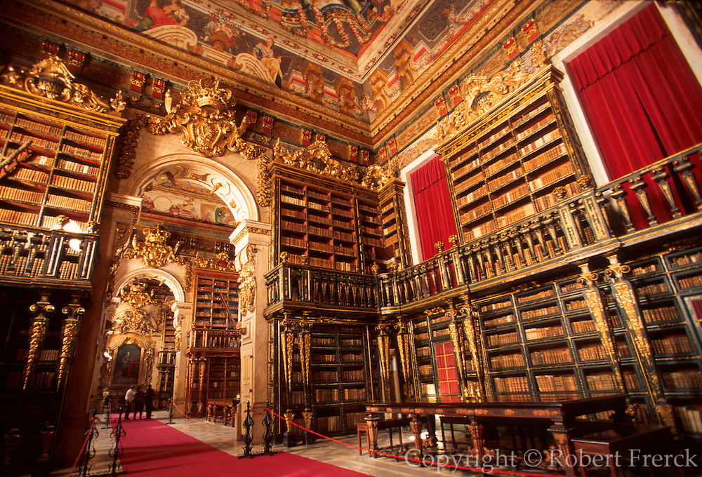 PORTUGAL, CENTRAL AREA, COIMBRA once capital and site of Portugal's oldest University; the old library