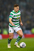 James Forrest (#49) of Celtic on the ball during the Betfred Cup Final between Celtic and Aberdeen at Celtic Park, Glasgow, Scotland on 2 December 2018.