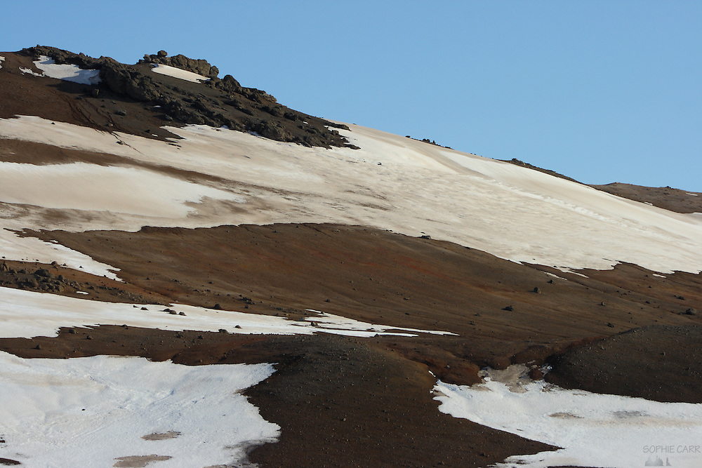Volcanic hillside near Lake Myvatn in northern Iceland