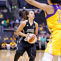 25 May 2014: San Antonio Stars guard Becky Hammon (25) eyes the basket during the Los Angeles Sparks 83-62 victory over the San Antonio Stars, at the Staples Center, Los Angeles, California, USA.