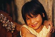 Machiguenga Indians<br />Timpia Community, Lower Urubamba River<br />Amazon Rain Forest, PERU.  South America