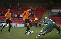 Photo: Rich Eaton.<br /> <br /> Crewe Alexandra v Hull City. Carling Cup. 15/08/2007. Hull's Michael Bridges fails to score from the spot in the first half but scores from the rebound past keeper Ben Williams.