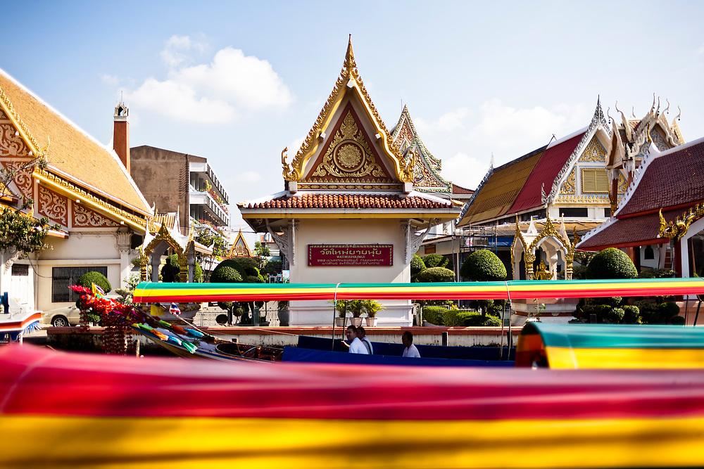 A temple on the river in Bangkok, Thailand.