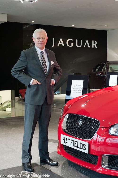 Hatfields Jaguar Sharrowvale Road Sheffield Dearer Principal Andrew Jeffery..10 January 2010.Images © Paul David Drabble