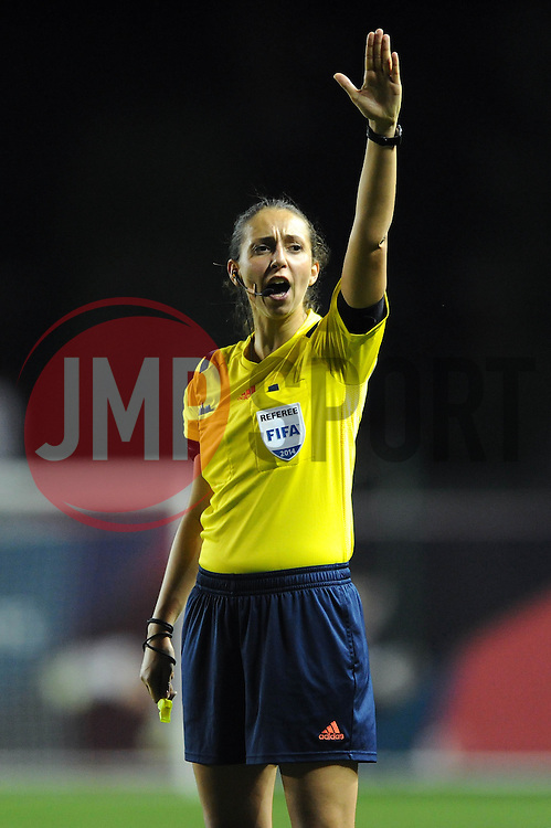 Referee, Marija Kurtes - Photo mandatory by-line: Dougie Allward/JMP - Mobile: 07966 386802 - 16/10/2014 - SPORT - Football - Bristol - Ashton Gate - Bristol Academy v Raheny United - Women's Champions League