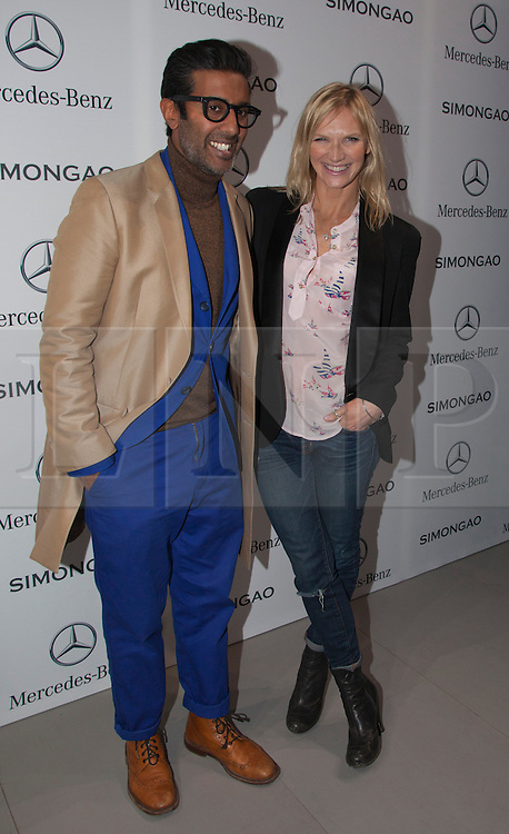 © Licensed to London News Pictures. 18 February 2014, London, England, UK. Pictured: Jo Whiley. Celebrities attend the Mercedes-Benz sponsored SIMONGAO show during London Fashion Week AW14 at the BFC Courtyard Show Space/Somerset House. Photo credit: Bettina Strenske/LNP