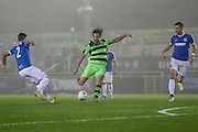 Forest Green Rovers Darren Carter(12) shoots at goal misses the target during the Vanarama National League match between Forest Green Rovers and Dover Athletic at the New Lawn, Forest Green, United Kingdom on 17 December 2016. Photo by Shane Healey.