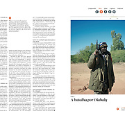 "Tearsheet of ""Mali: Battle for Diabaly"" published in Courrier Internacional"