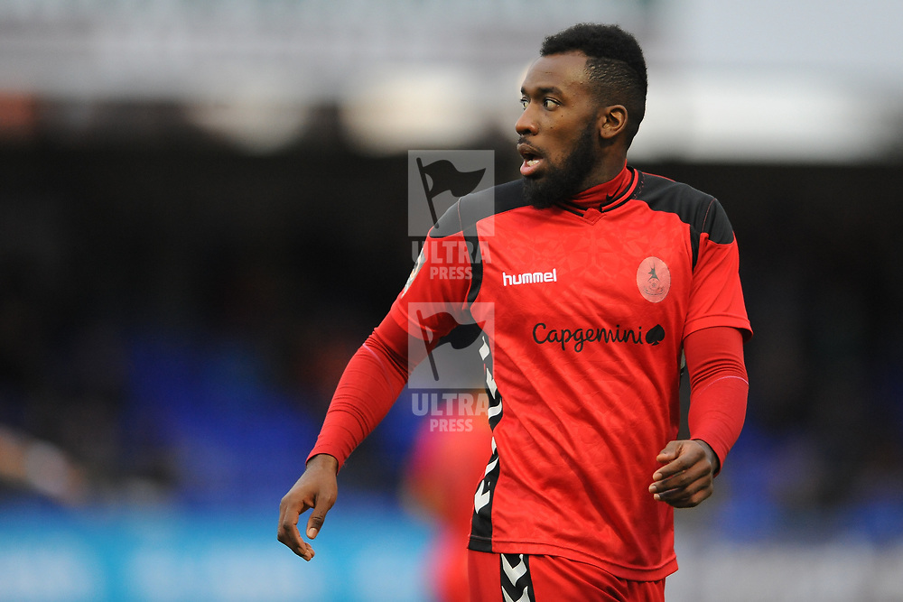 TELFORD COPYRIGHT MIKE SHERIDAN 12/1/2019 - Amari Morgan Smith of AFC Telford during the Vanarama Conference North fixture between AFC Telford United and Hartlepool United at the Super Six Stadium.