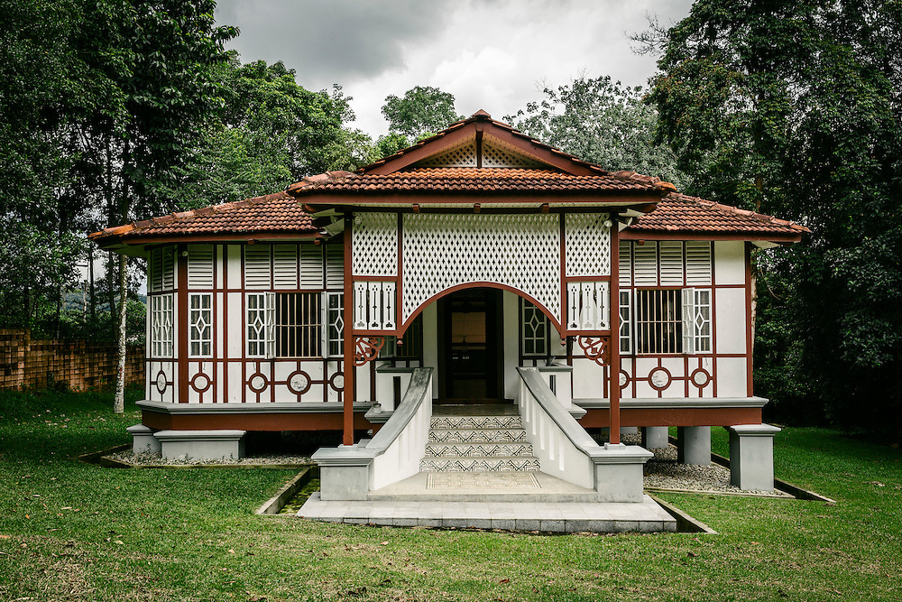 Artist Residence on the grounds of Rimbun Dahan. The residence is a traditional Chinese home from Georgetown, Penang.