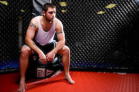 Chris Snyder portrait and action photos during training at Rage in the Cage, Tempe, AZ.