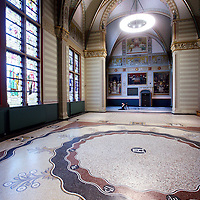 Nederland, Amsterdam , 25 maart 2013..Rijksmuseum.. Geheel gerenoveerde hal aan de Stadhouderskade..Foto:Jean-Pierre Jans