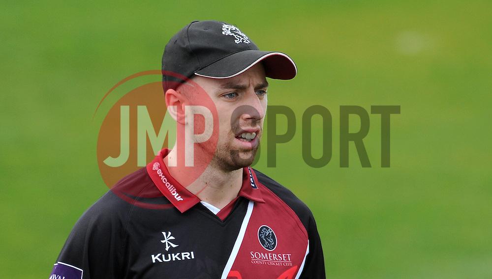 Somerset's Jack Leach - Photo mandatory by-line: Harry Trump/JMP - Mobile: 07966 386802 - 30/03/15 - SPORT - CRICKET - Pre Season Fixture - T20 - Somerset v Gloucestershire - The County Ground, Somerset, England.