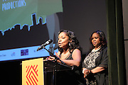 New York, NY-May 13: (L-R) Director/Executive Producer Sonia Armstead and Director/Executive Producer Rochelle Brown attend ' Harlem on my Plate' and the Toasting of the Schomburg Center for its National Medal for Museums & Library Service Award powered by Citi on May 13, 2015 in New York City. Terrence Jennings/terrencejennings.com)