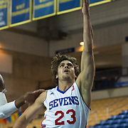 Delaware 87ers Guard Matthew Bouldin (23) drives towards the basket in the first half of a NBA D-league regular season basketball game between the Delaware 87ers (76ers) and the Erie BayHawks (Knicks) Monday, Jan 13, 2014 at The Bob Carpenter Sports Convocation Center, Newark, DE