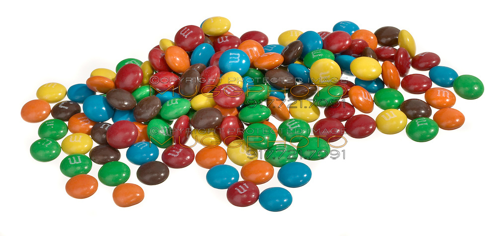 m&m's in a pile