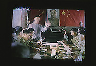 An image from a Chinese movie showing on Chinese Television in Kunming, one of the cities visited by the writers on the Think Uk Writers Train. The Think UK China Writers Train is a project, in collaboration with the British Council, to take 4 UK writers/poets and 4 Chinese writers/poets around China by train visiting 6 major cities to hold talks, seminars and readings of their work.