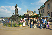 DRESDEN, GERMANY - MAY 22, 2010: Unidentified people visit historical part of the city in Dresden, Germany.