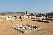 Proto-Byzantine villa, c. 6th century AD, possibly with a well in the foreground, within the courtyard, to the south east of the theatre in Xanthos, Antalya, Turkey. Xanthos was a centre of culture and commerce for the Lycians, and later for the Persians, Greeks and Romans, and was listed as a UNESCO World Heritage Site in 1988. Picture by Manuel Cohen