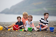 ***Repro Free*** Release 30/04/2014 Bray Co Wicklow: TV3s Sybil Mulcahy is All Set for Summer with ClonMedica and A New Home!<br />  <br /> Pictured TV3's Sybil Mulcahy with her 3 children Michael (2), Genevieve (6) and Hugh (8). Sybil is all set for a stressfree Summer with the ClonMedica Summer Range of products including Travel Pops, ITITCHeze and CaldeSun AND after finally buying her dream home in Killiney after over three years of searches and disappoints.<br />  <br />  All from ClonMedica, Travel Pops take the discomfort out of travelling for kids by settling the tummy during travel - helping to ensure a trouble free journey, whilst CaldeSun protects young skin from harmful sunrays with its 50 SPF 200ml Spray.  Itcheze helps sufferers from prickly heat by using a revolutionary new approach to cooling & soothing skin.<br />  <br /> For further information or to talk to Sybil Mulcahy, please contact Ann-Marie Sheehan, Aspire PR, Telephone : 087 2985569 / 01 8275181 or email annmarie@aspire-pr.com