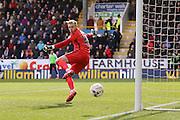 Blackburn Rovers goalkeeper Jason Steele (30) watches as the ball goes wide during the Sky Bet Championship match between Burnley and Blackburn Rovers at Turf Moor, Burnley, England on 5 March 2016. Photo by Simon Davies.