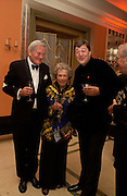Stephen Fry with his parents Alan and Marianne Fry, Bright Young Things Royal European charity premiere in Leicester Sq. and party afterwards at  Claridges, 28 September 2003. © Copyright Photograph by Dafydd Jones 66 Stockwell Park Rd. London SW9 0DA Tel 020 7733 0108 www.dafjones.com