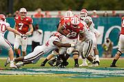 Citrus Bowl in Orlando, Florida.  Wisconsin defeated the .Arkansas Razorbacks 17 - 14 on January 1, 2007.University of Arkansas Razorback 2006 Football team....©Wesley Hitt.All Rights Reserved.501-258-0920.