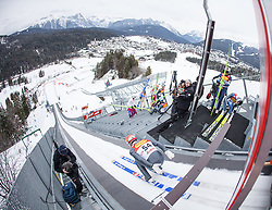 17.01.2014, Casino Arena, Seefeld, AUT, FIS Nordische Kombination, Seefeld Triple, Skisprung, im Bild Christoph Bieler (AUT) // Christoph Bieler (AUT) during Ski Jumping at FIS Nordic Combined World Cup Triple at the Casino Arena in Seefeld, Austria on 2014/01/17. EXPA Pictures © <br /> 2014, PhotoCredit: EXPA/ JFK