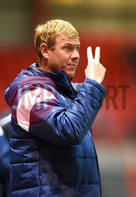 Bristol City assistant head coach Dean Holden signals to his players - Mandatory by-line: Paul Knight/JMP - 19/09/2017 - FOOTBALL - Ashton Gate Stadium - Bristol, England - Bristol City v Stoke City - Carabao Cup