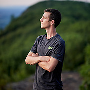 Trail running in Massachusetts on Mount Tom via the New England Trail with Stephen Kerr at sunset