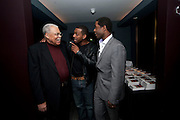 JAMES EARL JONES; RICHARD BLACKWOOD; ADRIAN LESTER, The Centrepoint Paramount Club afterparty following the press night of 'Cat On A Hot Tin Roof', at the Novello Theatre, Aldwych, London.  1 December 2009