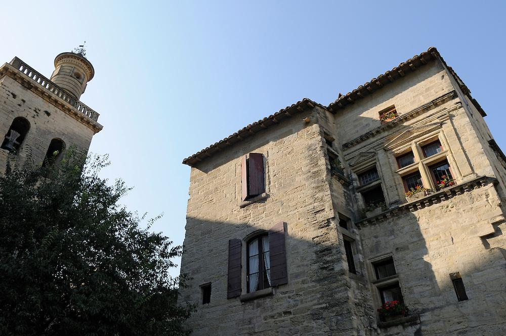France, Languedoc Roussillon, Gard (30), Uzès, place Nicolas Froment