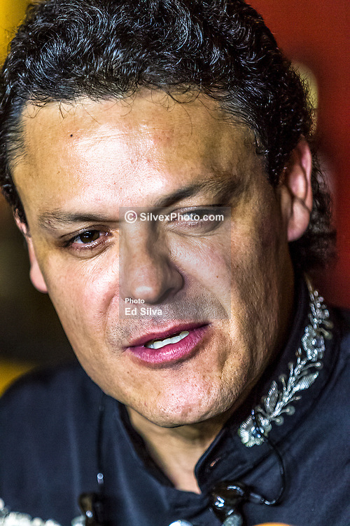 ANAHEIM, CA - JULY 18: Mexican super star Pedro Fernandez addresses the press prior to his concert at M3 Live on July 18, 2015 in Anaheim, California. Byline, credit, TV usage, web usage or linkback must read SILVEXPHOTO.COM. Failure to byline correctly will incur double the agreed fee. Tel: +1 714 504 6870.