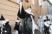 France, Limoux, 26 March 2017. Carnaval de Limoux, afternoon outing of all bands.
