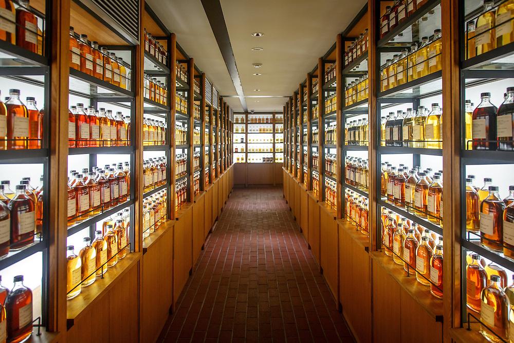 Whisky archives at the Yamazaki Distillery in Yamazaki, Osaka Prefecture, Japan, November 6, 2015. Gary He/DRAMBOX MEDIA LIBRARY