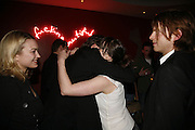 Sophia Myles, David Tennant and Charlotte Randle, First night party after the opening of Rabbit by Nina Raine at the Old Red Lion Theatre, Islington. Groucho Club. 18 June 2006. ONE TIME USE ONLY - DO NOT ARCHIVE  © Copyright Photograph by Dafydd Jones 66 Stockwell Park Rd. London SW9 0DA Tel 020 7733 0108 www.dafjones.com