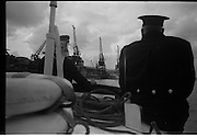 08/03/1964<br /> 03/08/1964<br /> 08 March 1964<br /> Views at the port of Dublin. Note cranes in background.