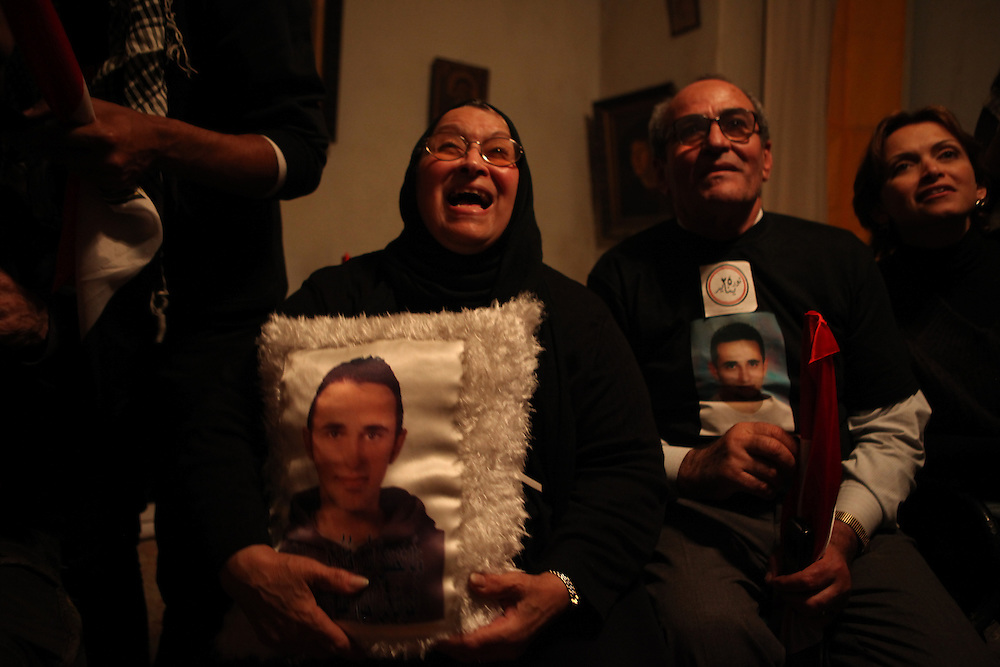 From left to right: the mother, uncle and sister of Khaled Said, the young man who was killed last year by Egyptian police in Alexandria. His death was a large part of the reason for the January 25th uprising that eventually led to the ouster of Mubarak.