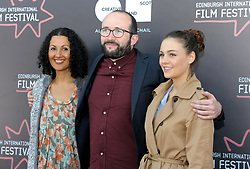 Edinburgh International Film Festival, Thursday, 21st June 2018<br /> <br /> Juror's Photocall<br /> <br /> Pictured: Miriam Bale, Alejandro Diaz Castano and Sophie Skelton make up the Shorts Jury<br /> <br /> (c) Aimee Todd | Edinburgh Elite media