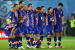 Team Croatia before penalty shots during the UEFA EURO 2008 Quarter-Final soccer match between Croatia and Turkey at Ernst-Happel Stadium, on June 20,2008, in Wien, Austria.  Won of Turkey after penalty shots. (Photo by Vid Ponikvar / Sportal Images)