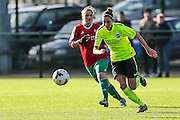 Brighton's Deanna Cooper during the FA Women's Premier League match between Coventry United Ladies and Brighton Ladies at Bedford United FC, Bedford, United Kingdom on 21 February 2016. Photo by Shane Healey.