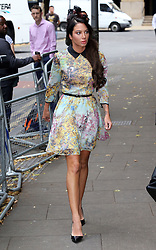 Image licensed to i-Images Picture Agency. 15/07/2014. London, United Kingdom. Tulisa Contostavlos arriving  at Southwark Crown Court in London . Picture by Stephen Lock / i-Images