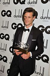 Tanqueray Most Stylish Man award winner MATT SMITH at the GQ Men of the Year 2011 Awards dinner held at The Royal Opera House, Covent Garden, London on 6th September 2011.