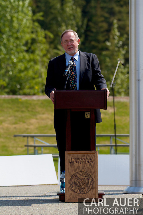 Memorial Day Ceremony at Ft. Richardson National Cemetary with Congressman Don Young, Senator Mark Begich and Governour Sean Parnell.